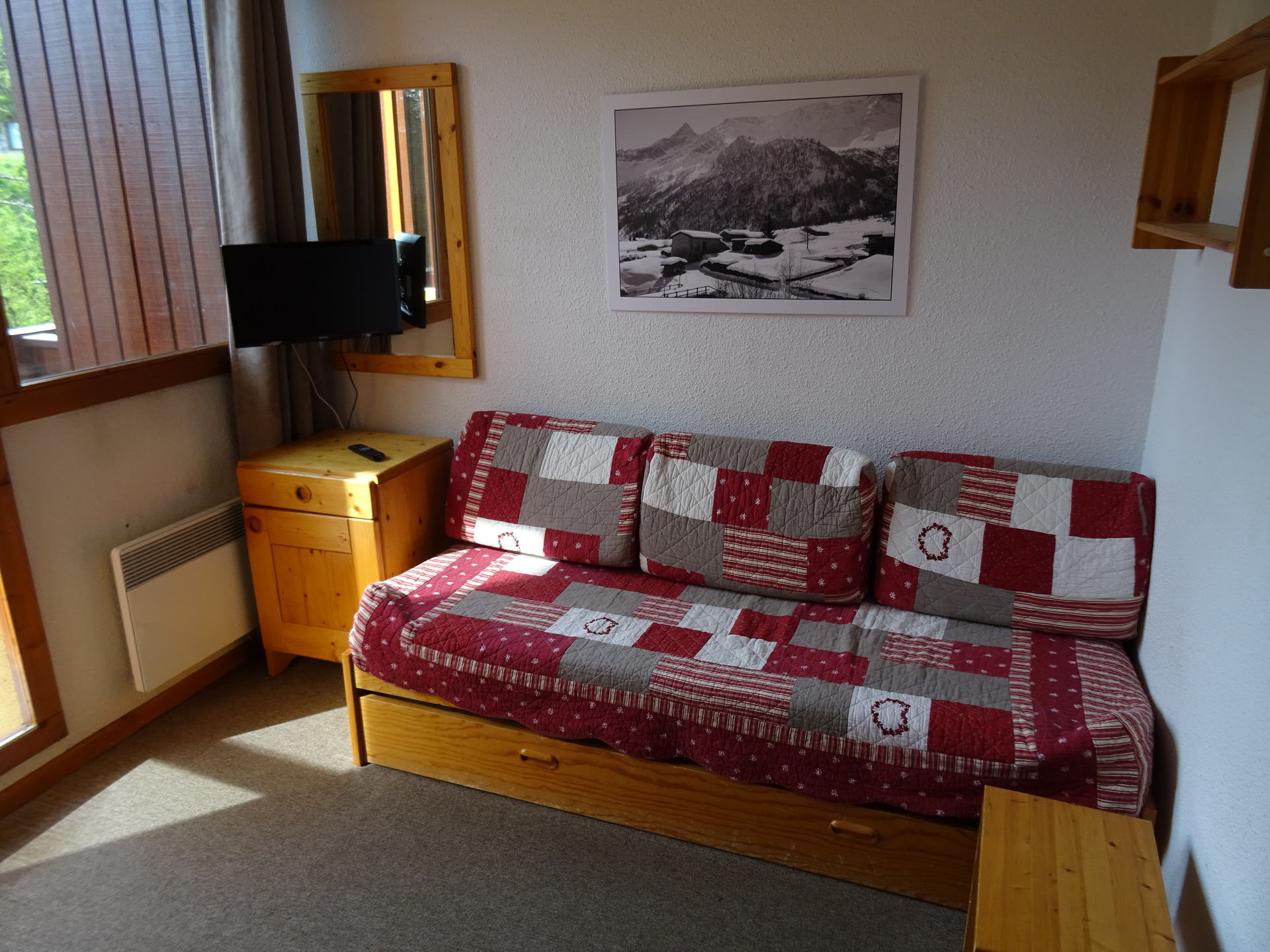 Studio for 3 persons in Vallandry center and...