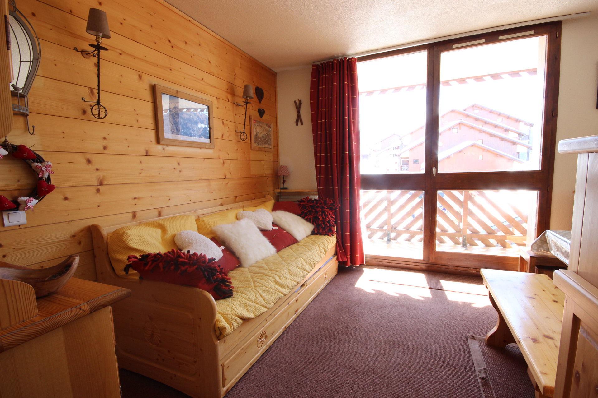 Studio cabin  for 4 persons in Vallandry center...