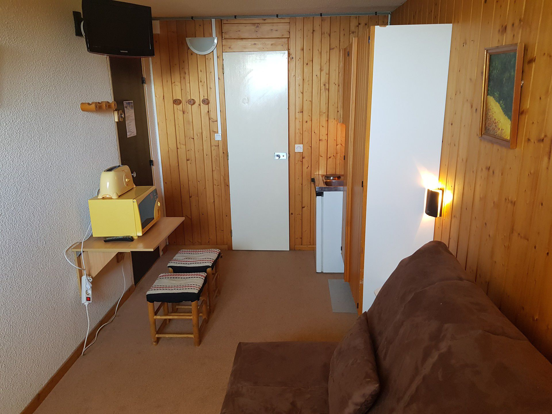 Studio for 2 people in Arc 1600 close to the...