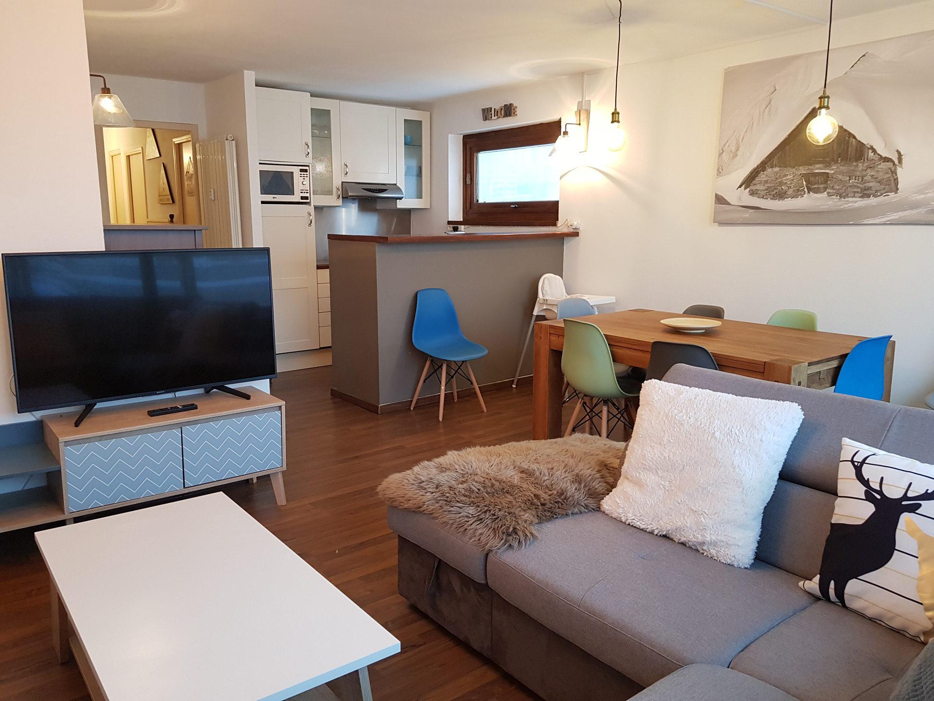 Appartement de charme 3 pièces cabine 8...