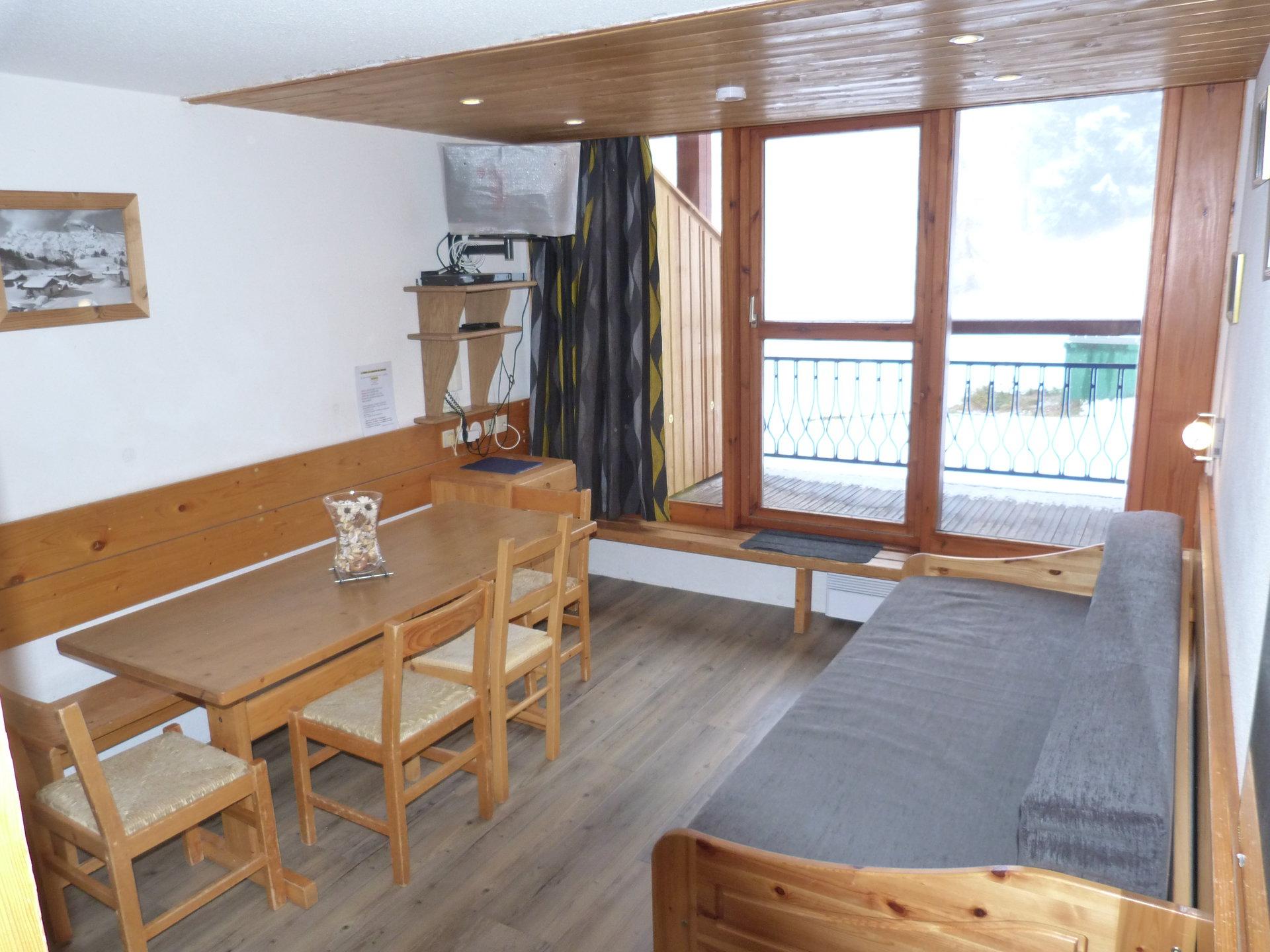 Appartement 2 pièces 6 personnes en duplex, skis...