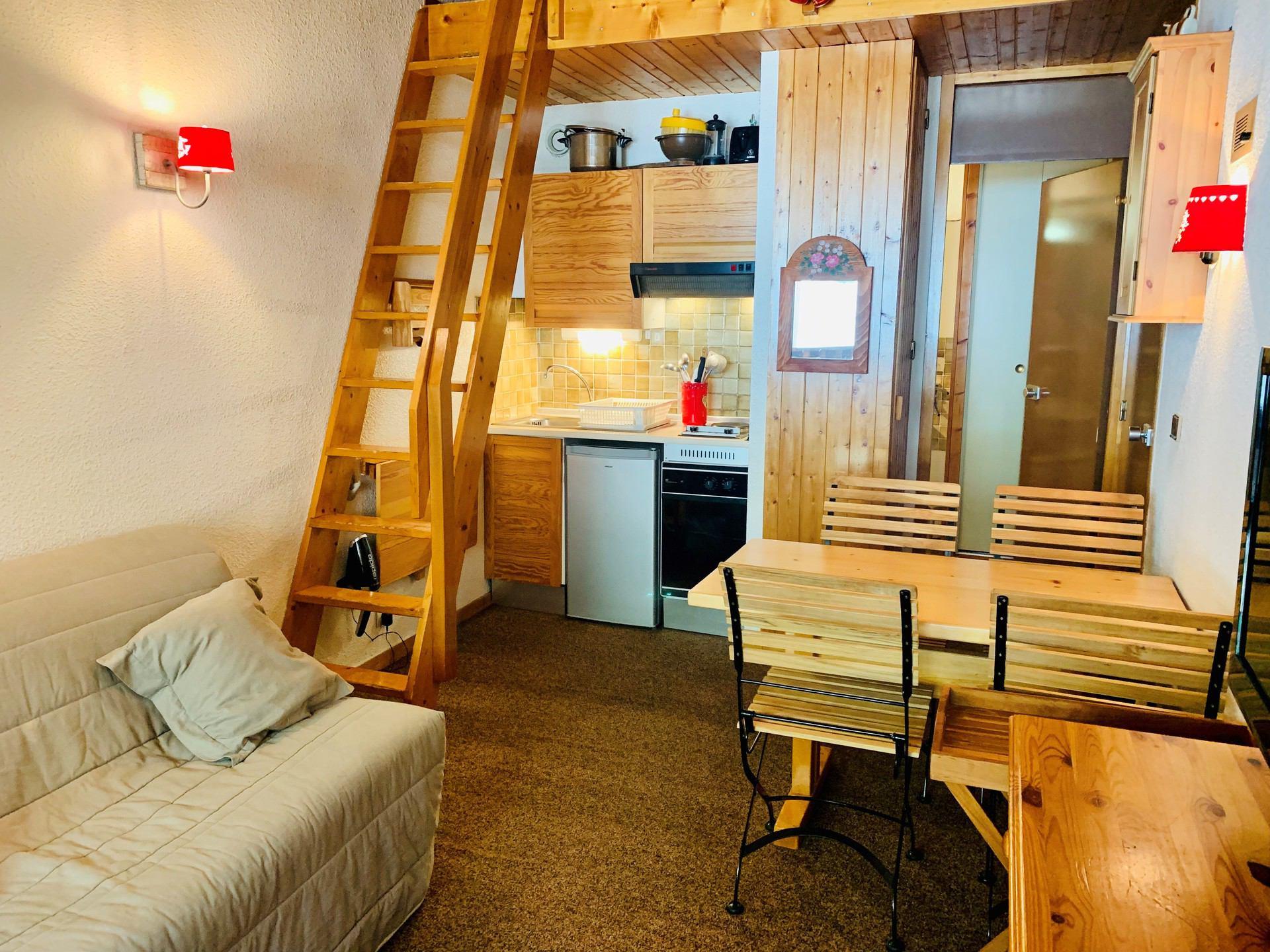 Studio mezzanine 3 personnes à Val d'Isère à 600...